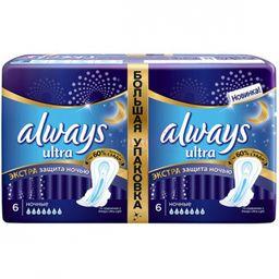 Always ultra night Экстра защита deo прокладки женские гигиенические, 12 шт.