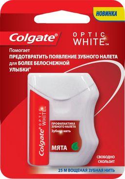 Colgate Оptic White Зубная нить, 25 м, нити зубные, 1 шт.