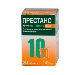 Престанс, 10 мг+10 мг, таблетки, 30 шт.