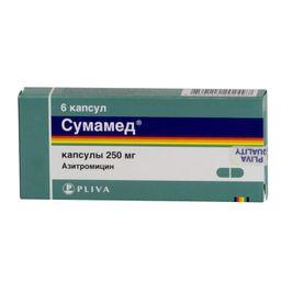 Сумамед, 250 мг, капсулы, 6 шт.