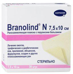 Branolind N с перуанским бальзамом Повязка мазевая, 7.5х10, повязка, 30 шт.