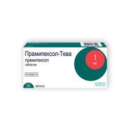 Прамипексол-Тева, 1 мг, таблетки, 30 шт.