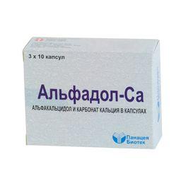 Альфадол-Ca, капсулы желатиновые мягкие, 30 шт.