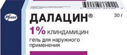 Далацин, 1%, гель для наружного применения, 30 г, 1 шт.