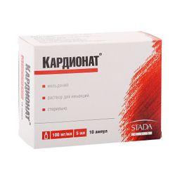 Кардионат, 100 мг/мл, раствор для инъекций, 5 мл, 10 шт.