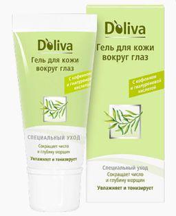 Doliva гель для кожи вокруг глаз, крем для лица, 15 мл, 1 шт.