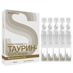 Таурин-СОЛОфарм, 4%, капли глазные, 1 мл, 10 шт.
