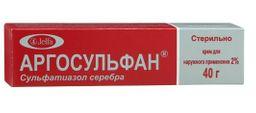 Аргосульфан, 2%, крем для наружного применения, 40 г, 1 шт.