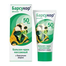 Барсукор бальзам-крем массажный с барсучьим жиром, крем-бальзам, 50 мл, 1 шт.