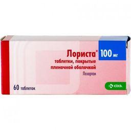 Лориста, 100 мг, таблетки, покрытые пленочной оболочкой, 60 шт.