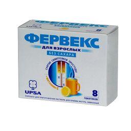 Фервекс, 500 мг+25 мг+200 мг, порошок для приготовления раствора для приема внутрь, лимонные без сахара, 4.95 г, 8 шт.