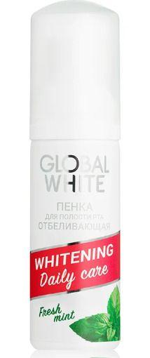 Global White пенка для полости рта отбеливающая Свежая мята, спрей, 50 мл, 1 шт.