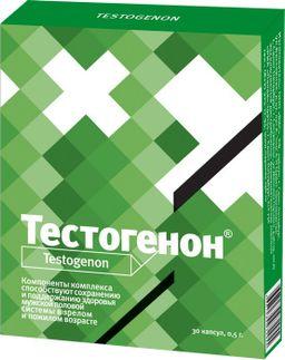 Тестогенон, 0.5 г, капсулы, 30 шт.