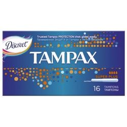Tampax super plus тампоны женские гигиенические с аппликатором, 16 шт.