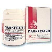 Панкреатин, 30 ЕД, таблетки, покрытые кишечнорастворимой оболочкой, 60 шт.