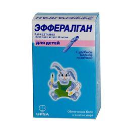 Эффералган, 30 мг/мл, сироп для детей, 90 мл, 1 шт.