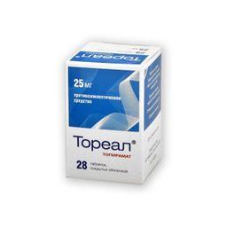 Тореал, 25 мг, таблетки, покрытые оболочкой, 28 шт.