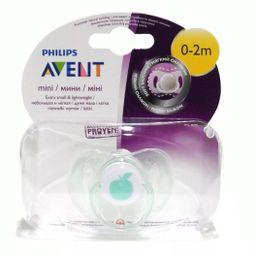 Соски-пустышки Philips Avent Мини, (81500) SCF151/00, 0-2 мес., из силикона (силиконовый), 1 шт.