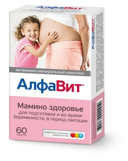 Алфавит Мамино здоровье витаминно-минеральный комплекс, таблетки в комплекте, 60 шт.