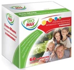 Био-Макс, таблетки, покрытые оболочкой, 60 шт.
