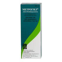 Метрогил (для инфузий), 5 мг/мл, раствор для внутривенного введения, 100 мл, 1 шт.