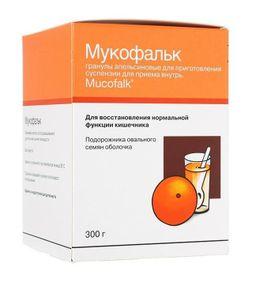 Мукофальк, гранулы для приготовления суспензии для приема внутрь, со вкусом или ароматом апельсина, 300 г, 1 шт.
