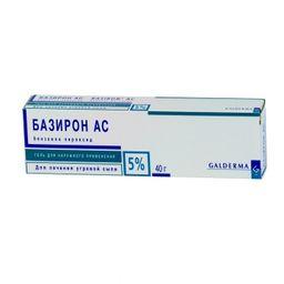 Базирон АС, 5%, гель для наружного применения, 40 г, 1 шт.