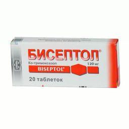Бисептол, 120 мг, таблетки, 20 шт.