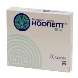 Ноопепт, 10 мг, таблетки, 50 шт.