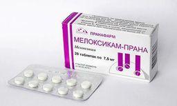 Мелоксикам-Прана, 7.5 мг, таблетки, 20 шт.