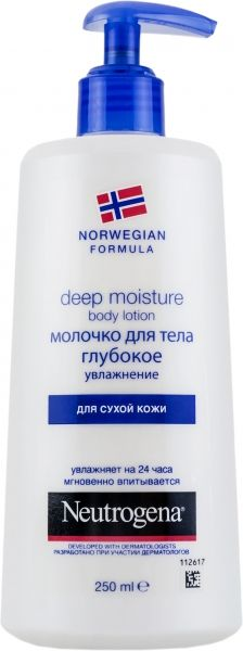 Neutrogena Норвежская формула Молочко для тела Глубокое увлажнение, молочко для тела, для сухой кожи, 250 мл, 1 шт.