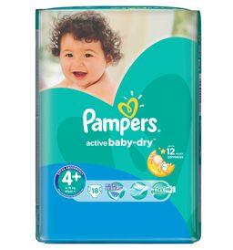 Подгузники детские Pampers Active Bab-dry, 9-16 кг, р. 4+ (Maxi plus), 18 шт.