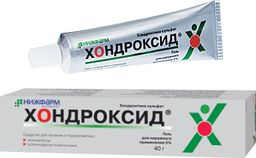 Хондроксид, 5%, гель для наружного применения, 40 г, 1 шт.