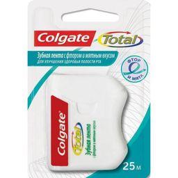 Colgate Total Зубная нить-лента со фтором и мятой, 25 м, 1 шт.