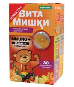ВитаМишки Immuno + облепиха, 2500 мг, пастилки жевательные, ассорти, 30 шт.