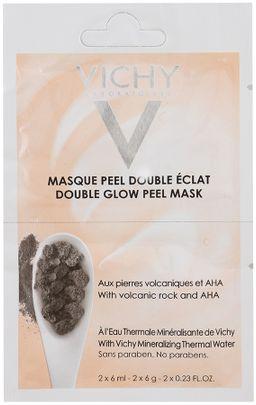 Vichy Double Glow Peel Mask минеральная маска-пилинг Двойное сияние саше 2 шт., маска для лица, 6 мл, 2 шт.