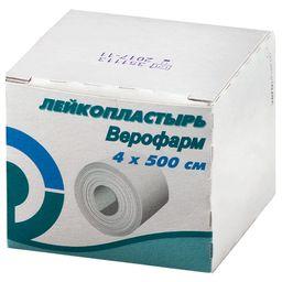 Лейкопластырь Верофарм, 4х500см, пластырь медицинский, 1 шт.