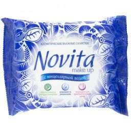 Салфетки для снятия макияжа Novita Мake-up с мицеллярной водой, с мицеллярной водой, 15 шт.
