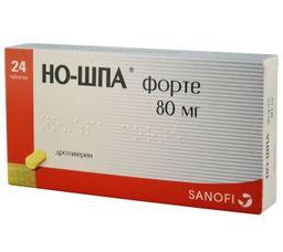 Но-шпа форте, 80 мг, таблетки, 24 шт.