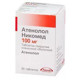 Атенолол Никомед, 100 мг, таблетки, покрытые пленочной оболочкой, 30 шт.