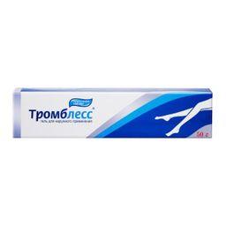 Тромблесс, 1000 ЕД/г, гель для наружного применения, 50 г, 1 шт.
