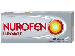 Нурофен, 200 мг, таблетки, покрытые оболочкой, 20 шт.