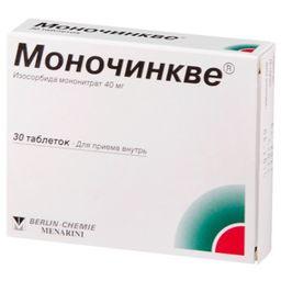 Моночинкве, 40 мг, таблетки, 30 шт.