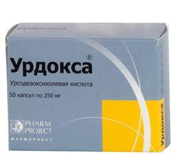 Урдокса, 250 мг, капсулы, 50 шт.