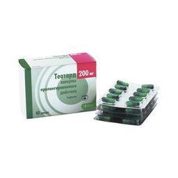 Теотард, 200 мг, капсулы ретард, 40 шт.
