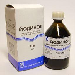 Йодинол, раствор для местного и наружного применения, 100 мл, 1 шт.