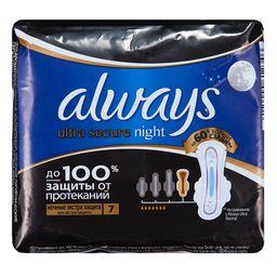 Always ultra secure night прокладки женские гигиенические, 7 шт.