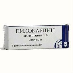 Пилокарпин, 1%, капли глазные, 5 мл, 1 шт.