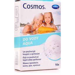 Cosmos Aqua Пластырь, 3размера, пластырь медицинский, водостойкий, 10 шт.