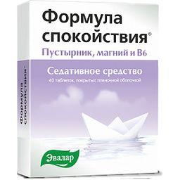 Формула спокойствия, таблетки, покрытые пленочной оболочкой, 40 шт.